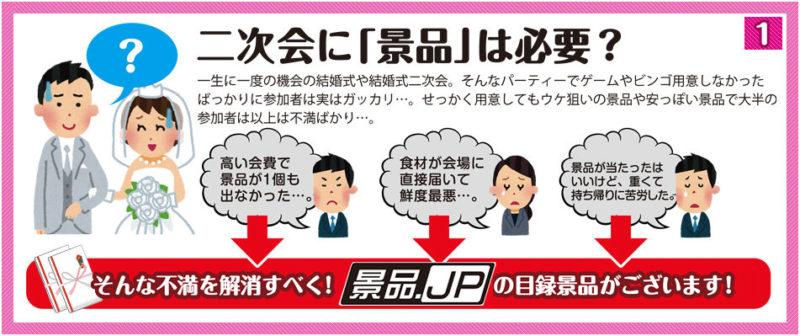二次会に景品は必要?そんな疑問を解消する景品.jpの目録景品