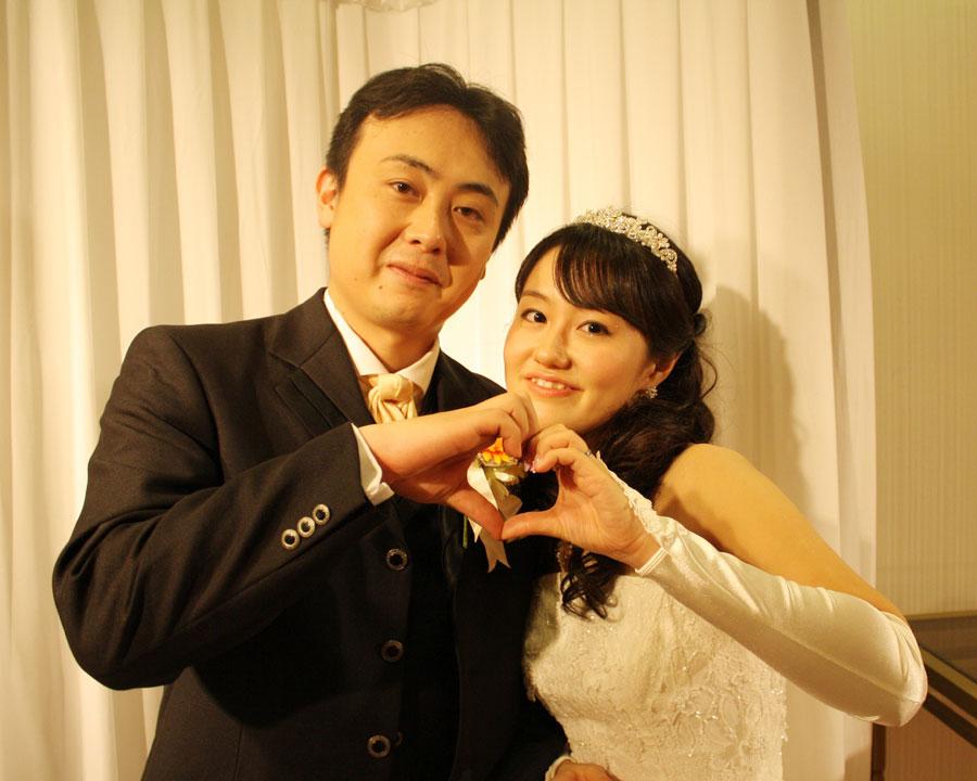 舞浜で結婚式二次会をした新郎新婦