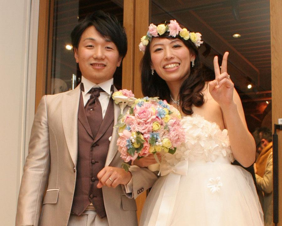 品川で結婚式二次会をした新郎新婦