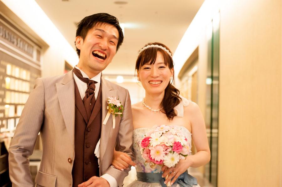 日本橋で結婚式二次会をした新郎新婦