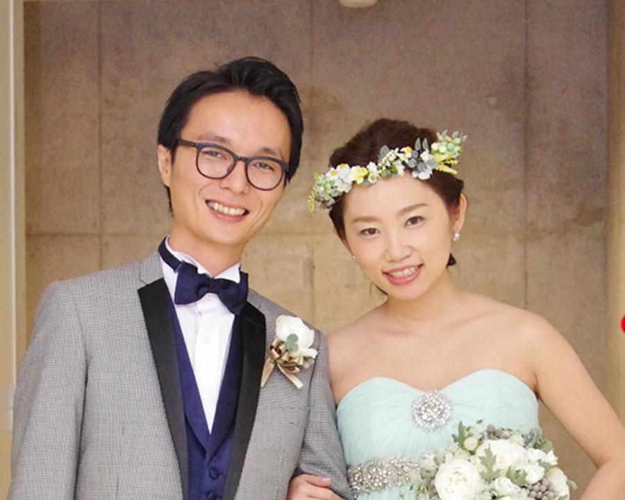 六本木で結婚式二次会をした新郎新婦