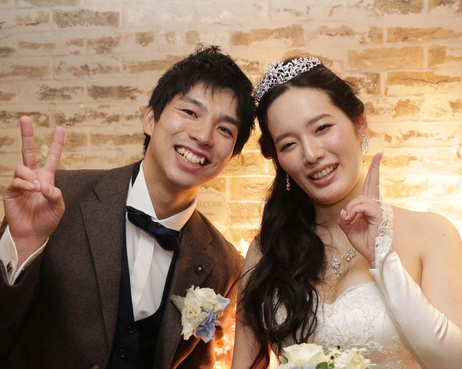 渋谷で結婚式二次会をした新郎新婦