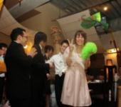 結婚式二次会でアフロトス