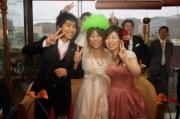 結婚式二次会でアフロ