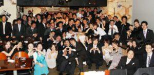 結婚式二次会の集合写真