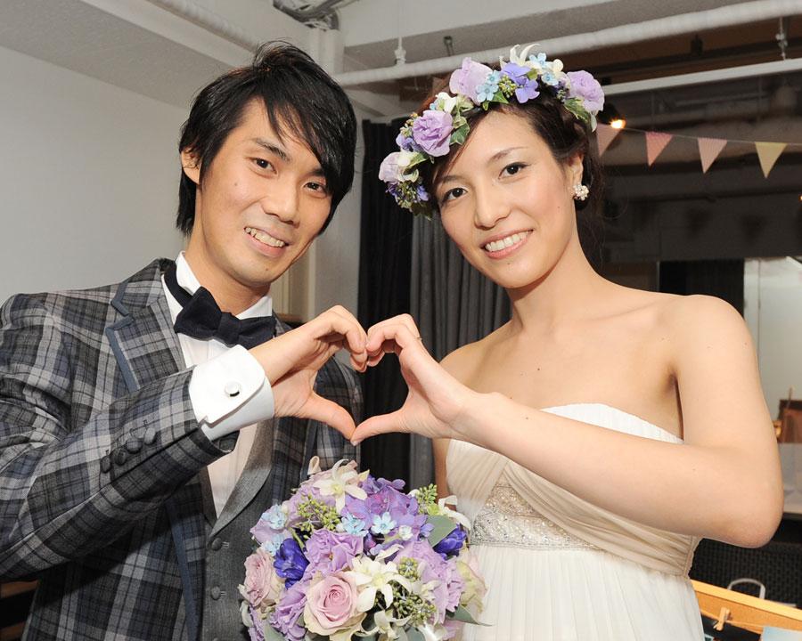 蔵前で結婚式二次会をした新郎新婦